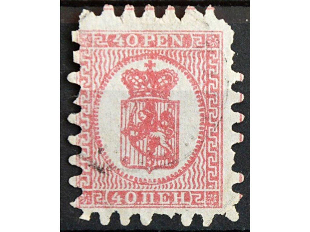 1866, 40K Znak, MiNr.9, razítkované