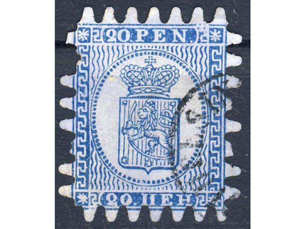 1866, 20P Znak, MiNr.8B, razítkované