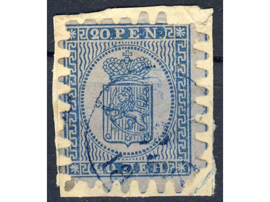 1866, 20P Znak, MiNr.8B, razítkované, výstřižek
