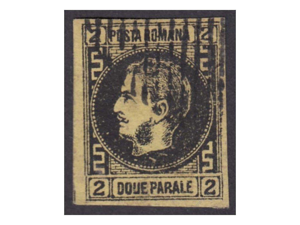 1866, 2Par Karel, MiNr.14y, razítkované, dv