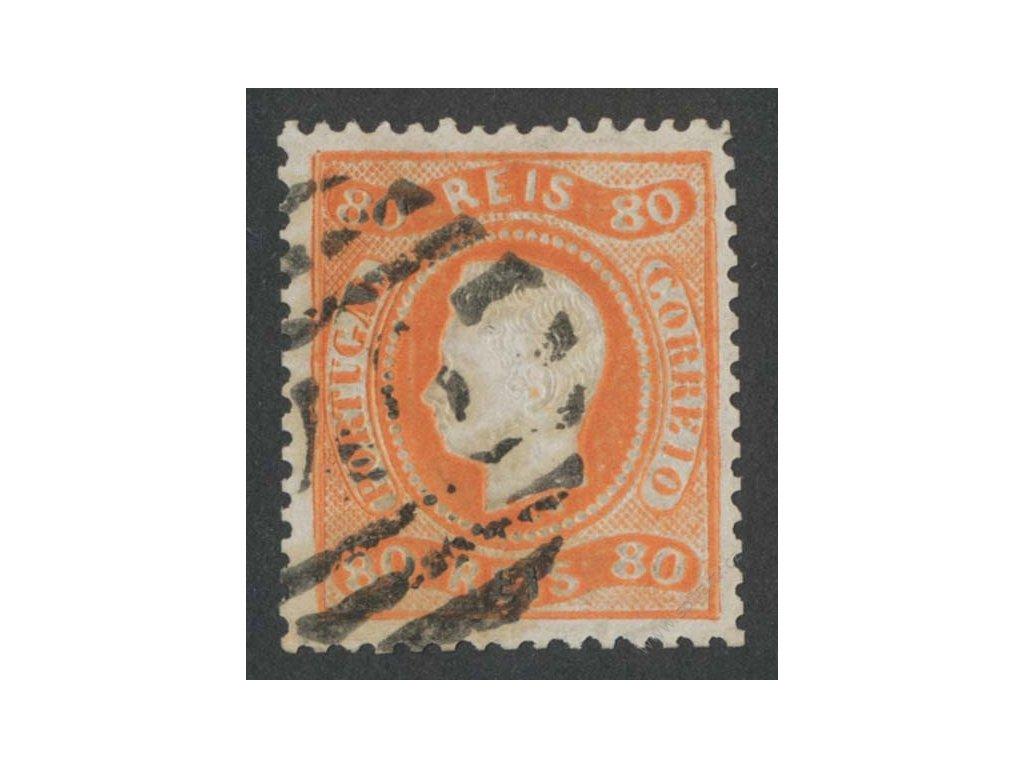 1866, 80R Luis, MiNr.22, razítkované