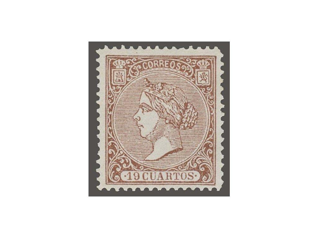 1866, 19Cs Isabella, MiNr.76, (*) bez lepu