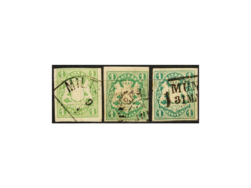 Bayern, 1867, 1Kr Znak, 3 ks-odstíny barev