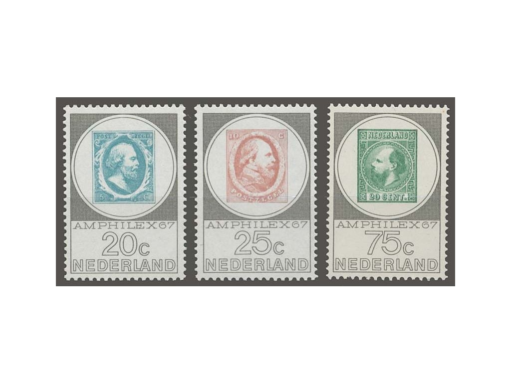 1967, 20-75C série AMPHILEX, MiNr.880-82, **