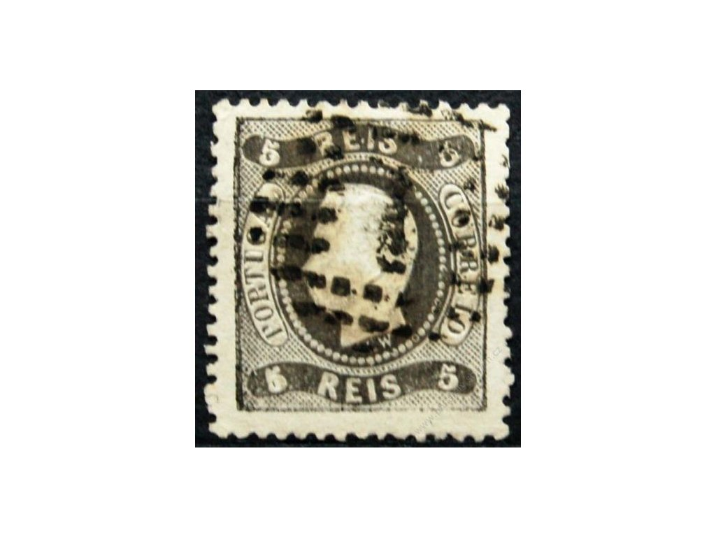 1867, 5P Luis, MiNr.25, razítkovaná