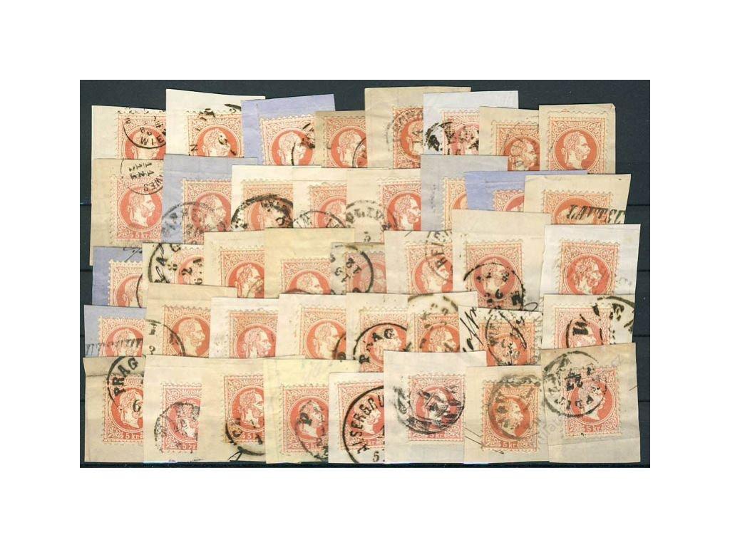 1867, 5Kr Franc Josef, 40 kusů výstřižků