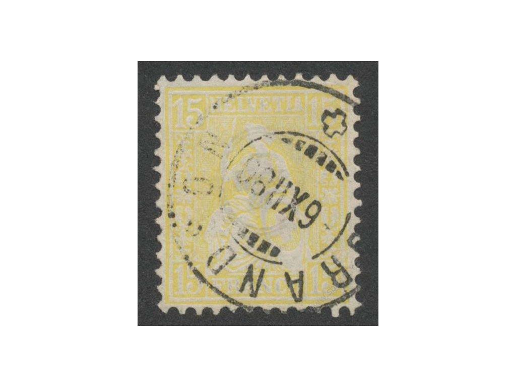 1867, 15C Helvetia, MiNr.31, razítkované