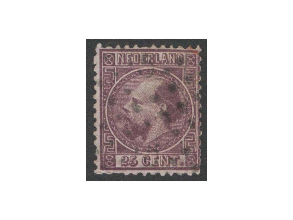1867, 25C Vilém, MiNr.11IA, razítkované, horší jakost
