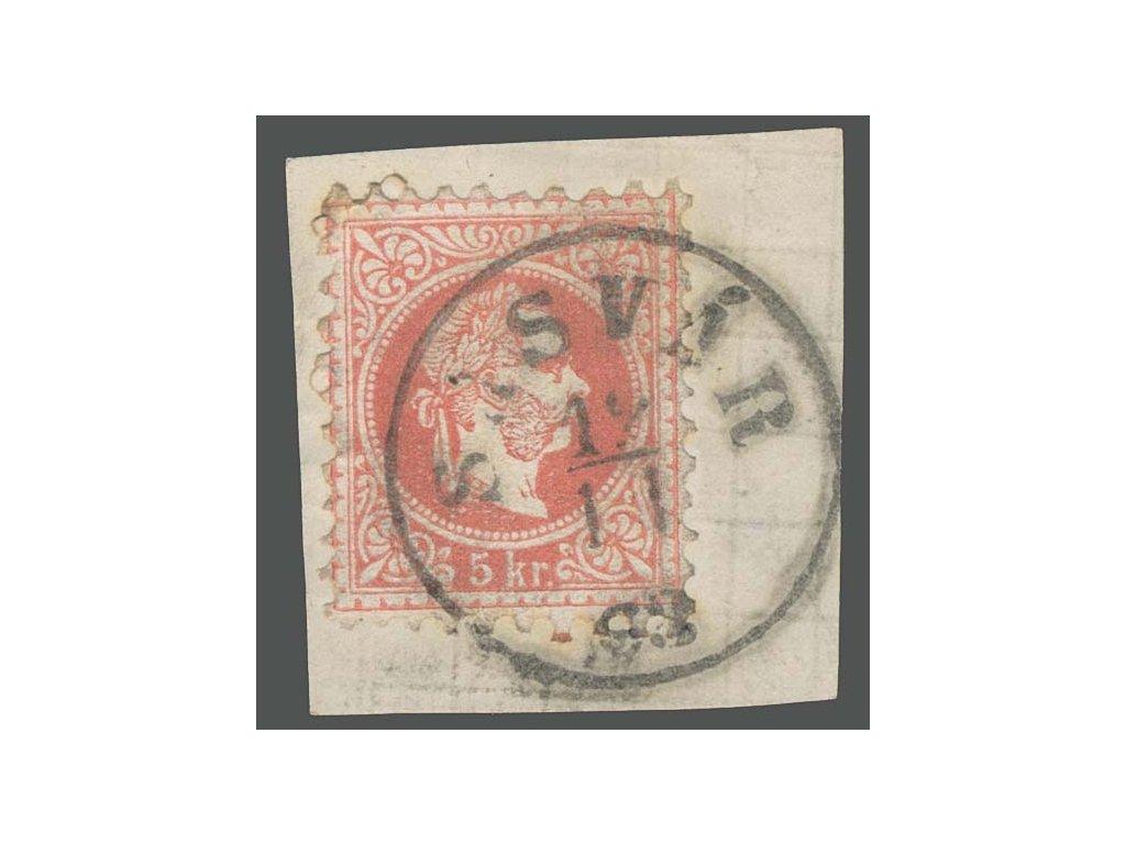 1867, DR Sasvár, výstřižek, MiNr.37, hezké