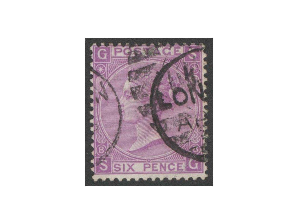 1867, 6P Viktoria, MiNr.29, razítkované