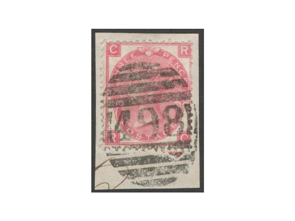 1867, 3P Viktoria, výstřižek, MiNr.28
