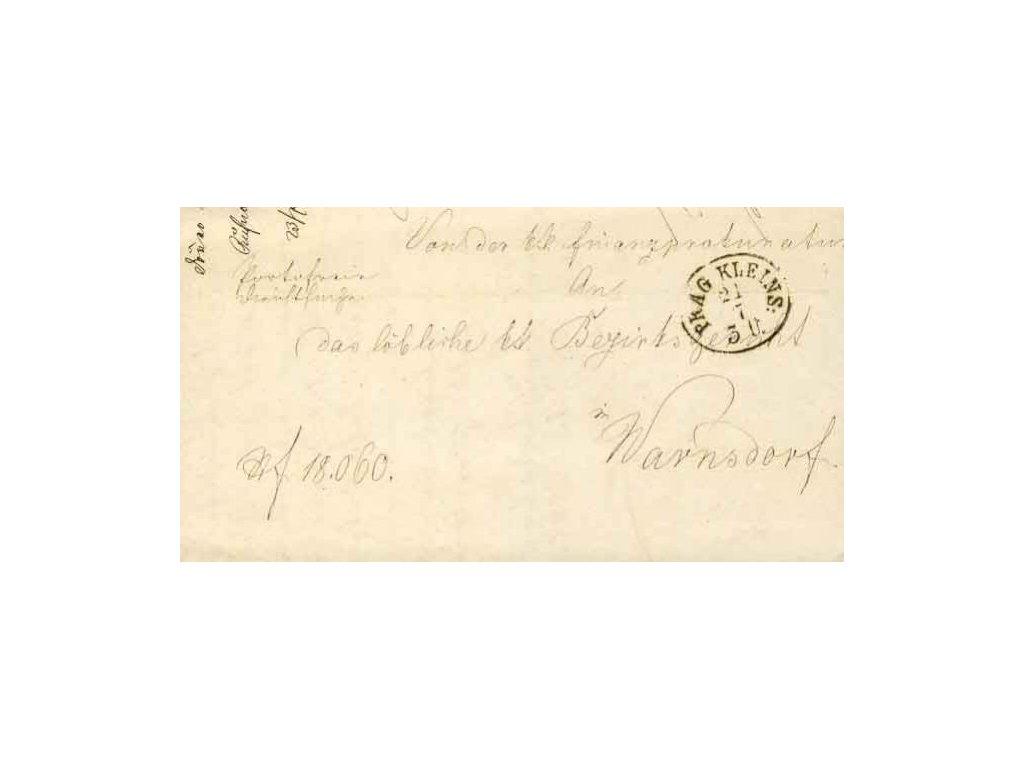 1868, Prag Kleins, skládaný dopis