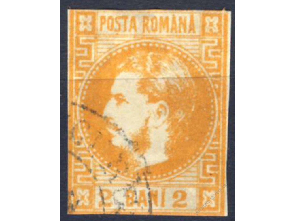 1868, 2B Karel, MiNr.17, razítkované