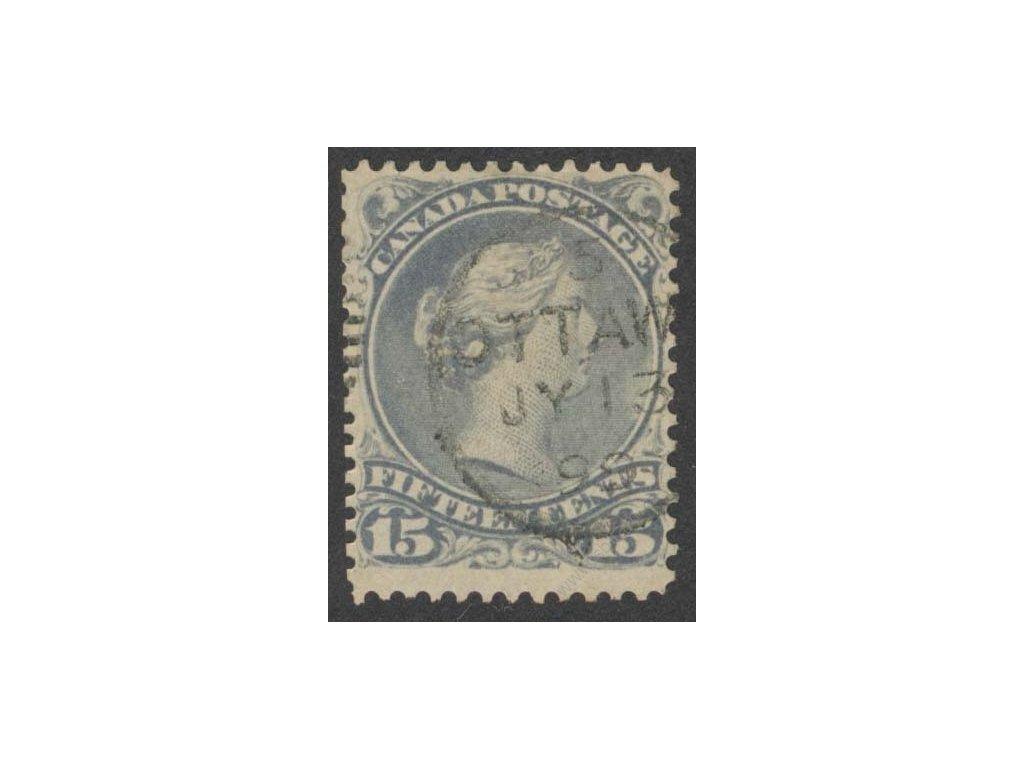 Kanada, 1868, 15C Viktoria, MiNr.24, razítkované