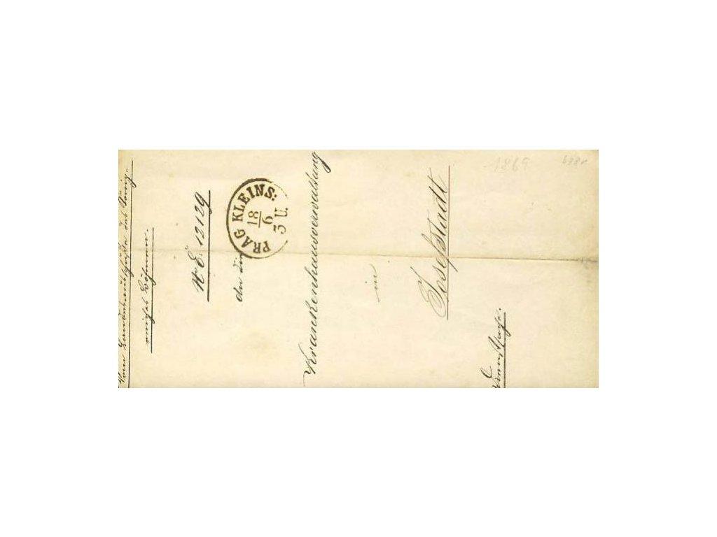 1869, Prag Kleins, skládaný dopis