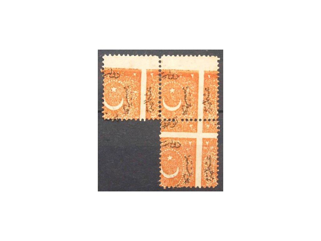 1869, 2Ghr doplatní, nesouvislý 3blok, (*)