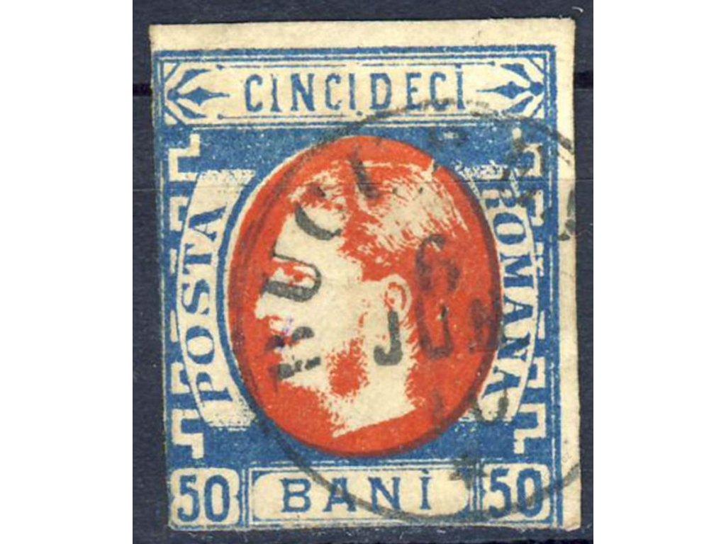 1869, 50B Karel, MiNr.25, razítkované