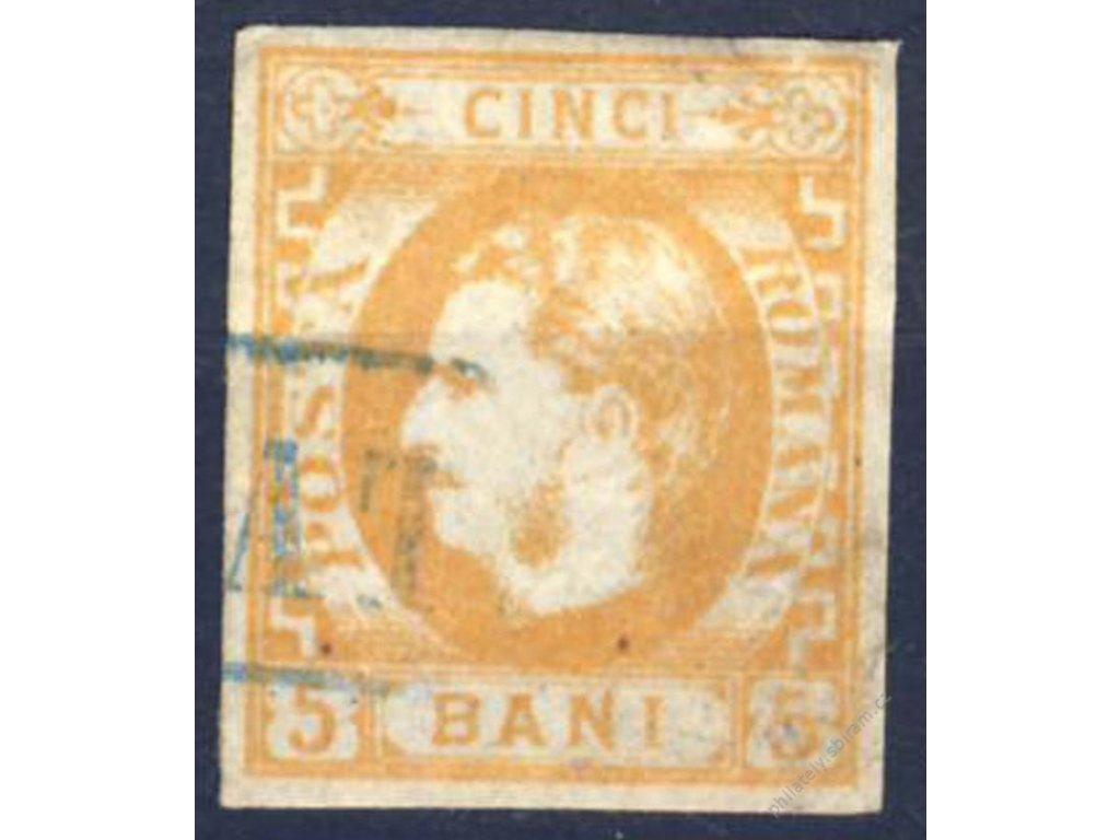 1869, 5B Karel, MiNr.21, razítkované