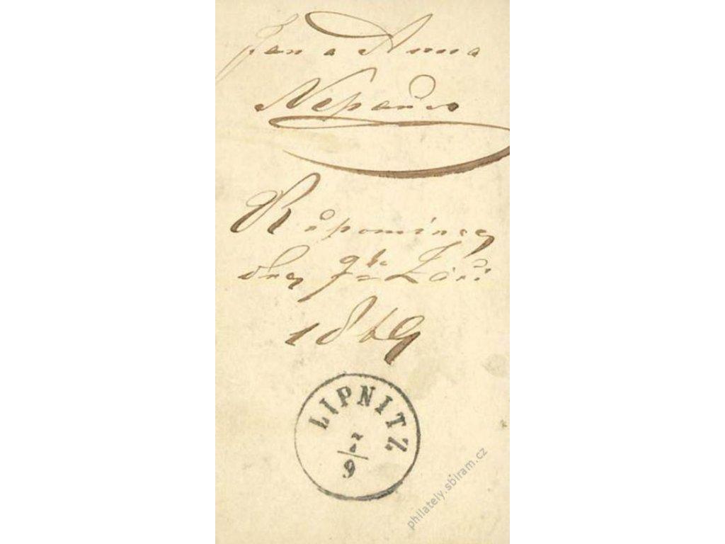 1869, DR Lipnitz, fotografie s razítkem
