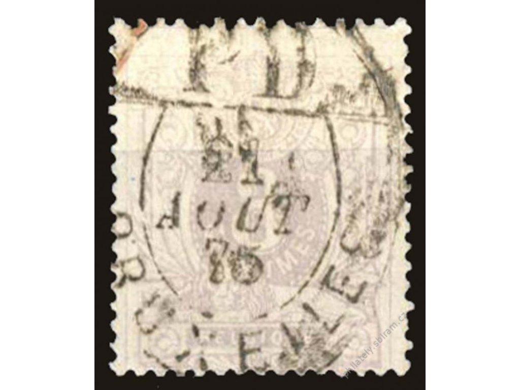 1869, 8C růžová, MiNr.26A, razítkované