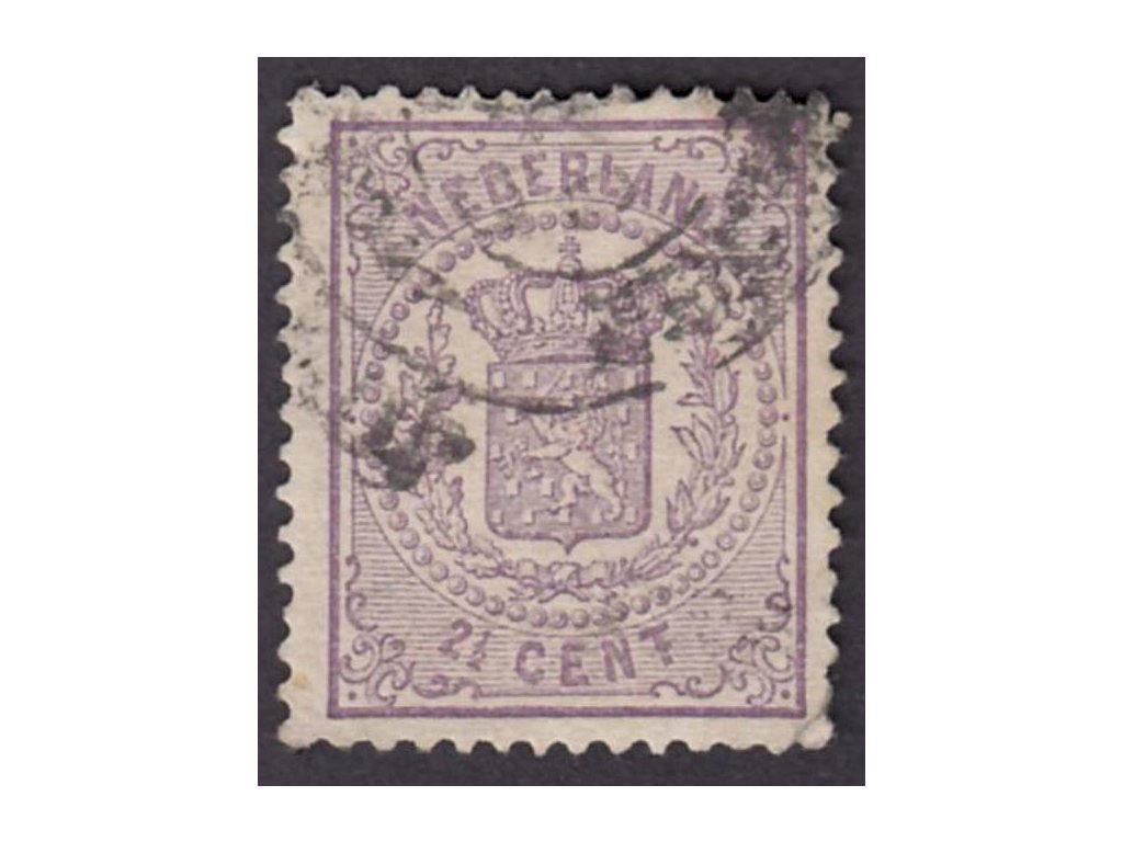 1869, 2 1/2C Znak, MiNr.18B, razítkované, lehce zeslabeno