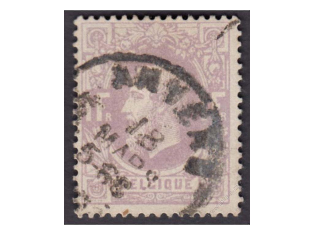 1869, 1Fr Leopold, MiNr.33A, razítkované