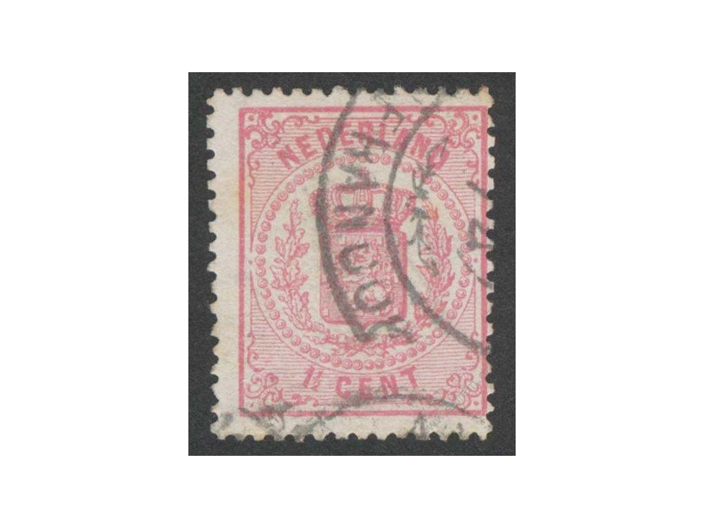 1869, 1 1/2C Znak, razítkované, skvrnka