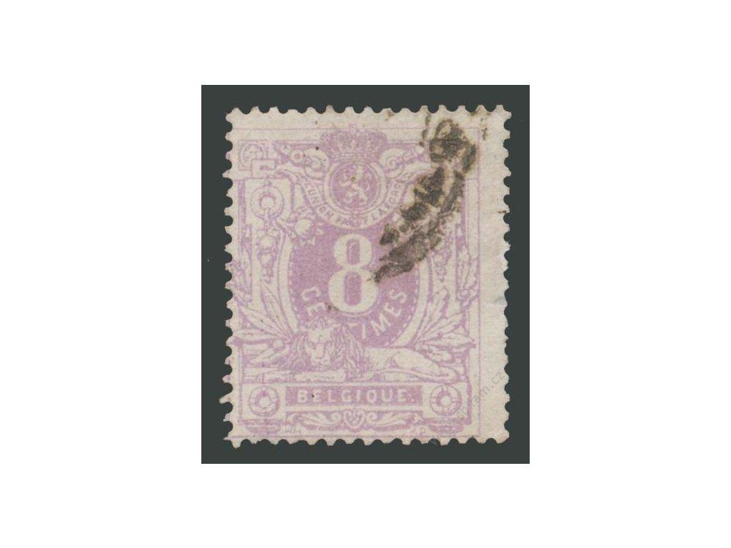1869, 8C růžová, MiNr.26A, razítkované, dv