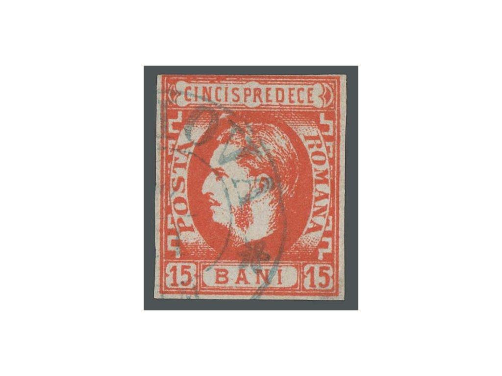 1869, 15B Karel, MiNr.22, razítkované