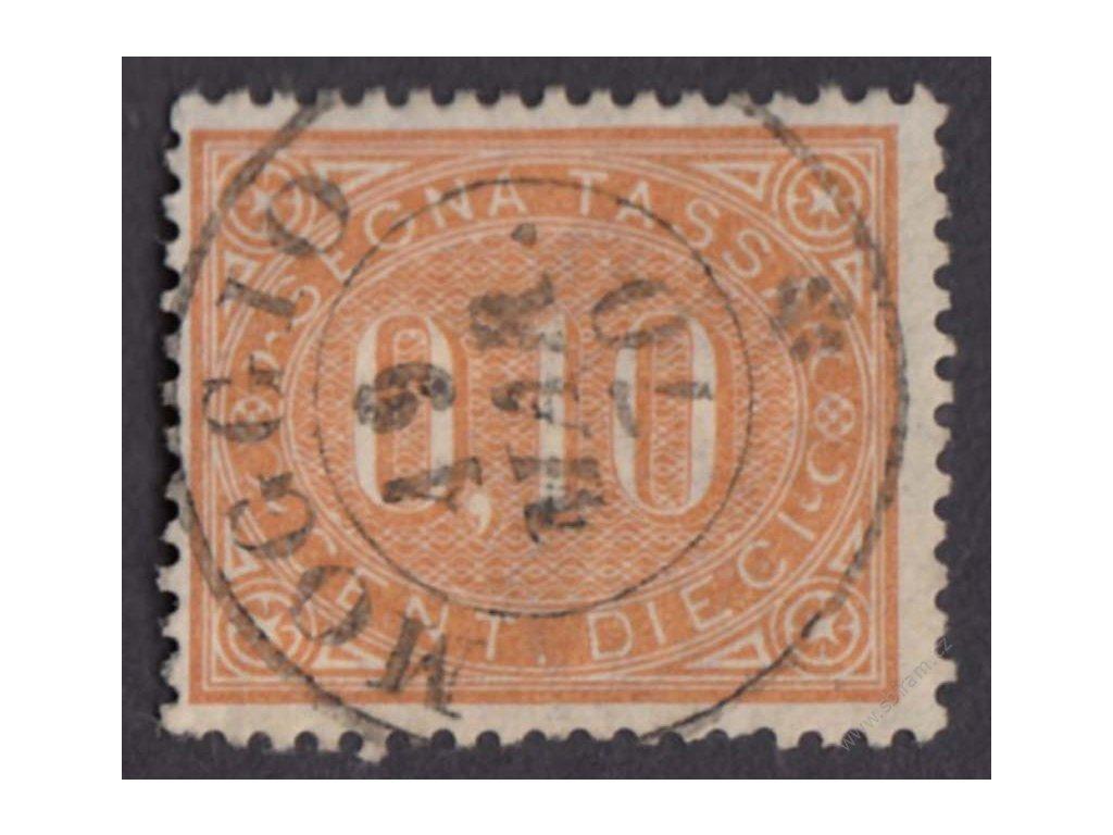 1869, 10C doplatní, MiNr.2, razítkované