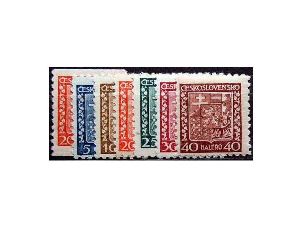 1929, 5-40h série Znak, Nr.248-53, **