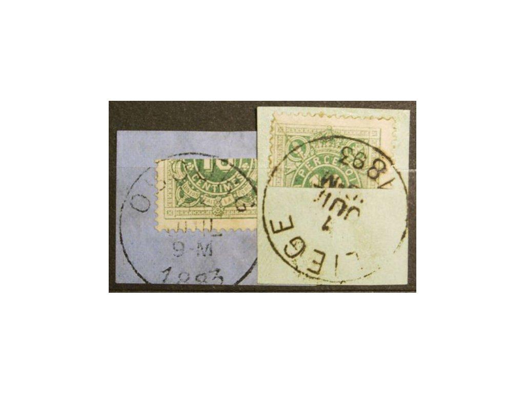 1870, 10C doplatní, půlené frankatury