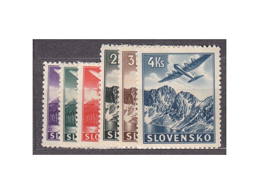 1939, 30h-4Ks Letecké, série, Nr.L1-6, **, ilustrační foto