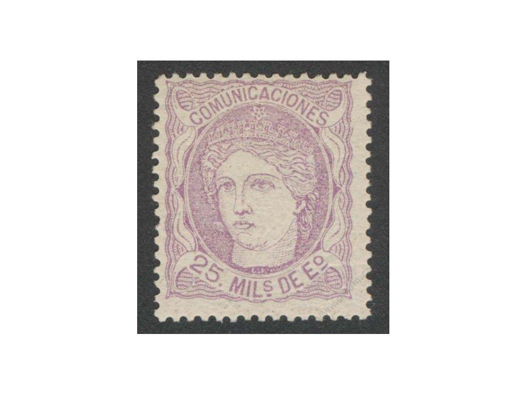 1870, 25M Hispanie, MiNr.100, * po nálepce