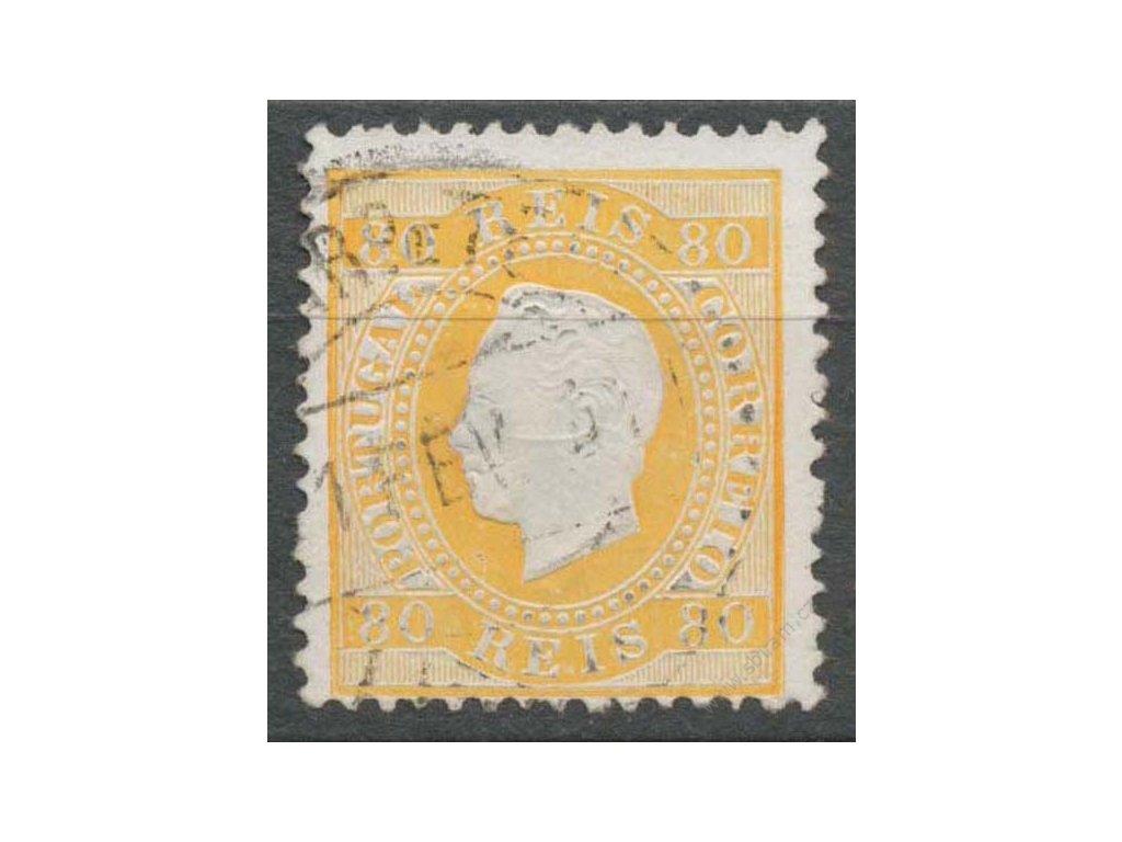 1870, 80R Luis, MiNr.40, razítkované