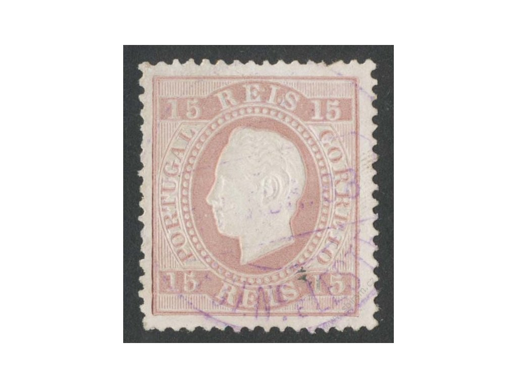 1870, 15R Luis, MiNr.36, razítkované, nepatrně zeslabeno