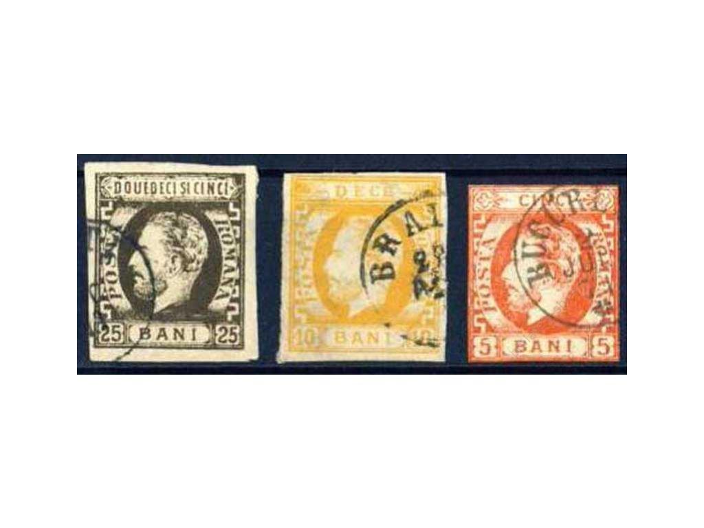 1871, 5-25B série Karel, různá jakost, razítkované