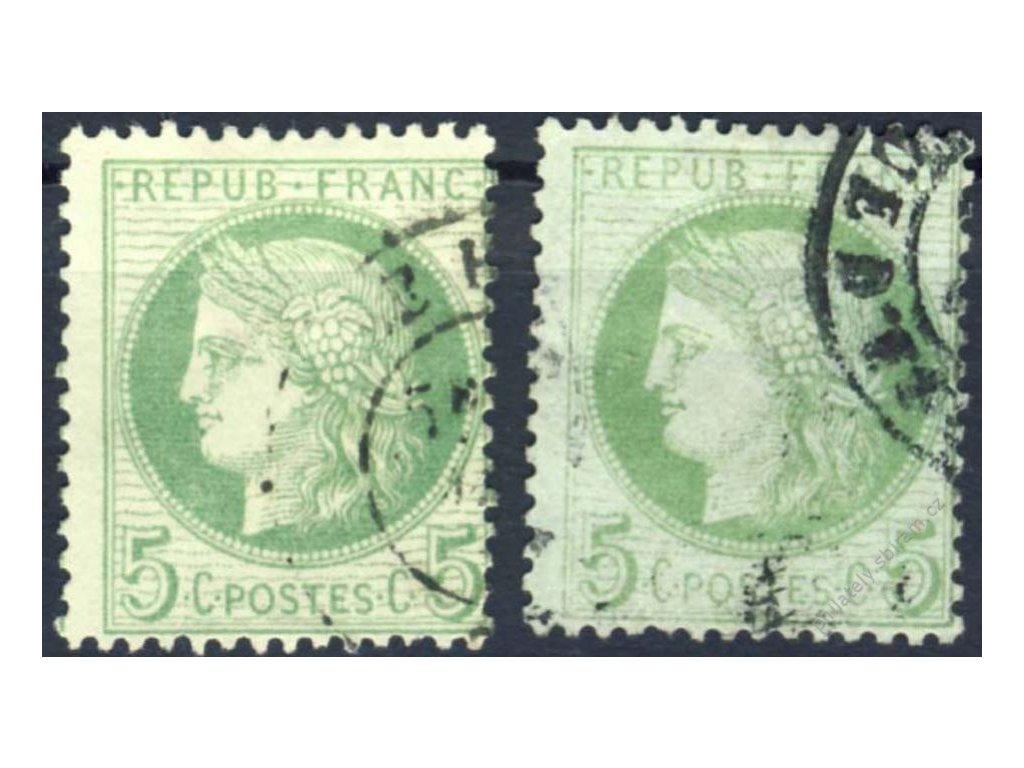 1871, 5C Ceres, 2 kusy - odstíny, razítkované
