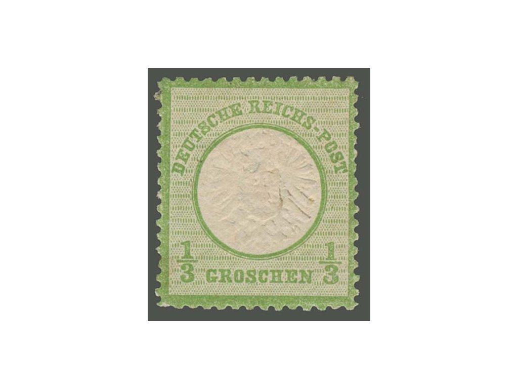 1872, 1/3Gr Znak, MiNr.17, * po nálepce, dv
