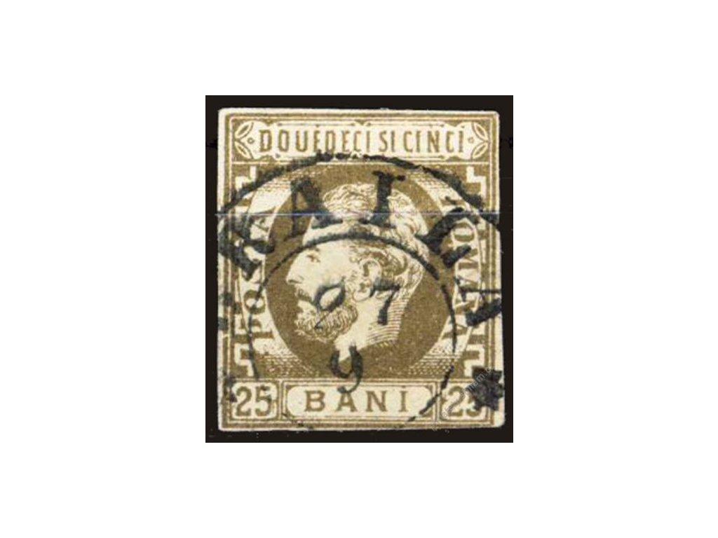 1872, 25B Karel, MiNr.34, razítkované