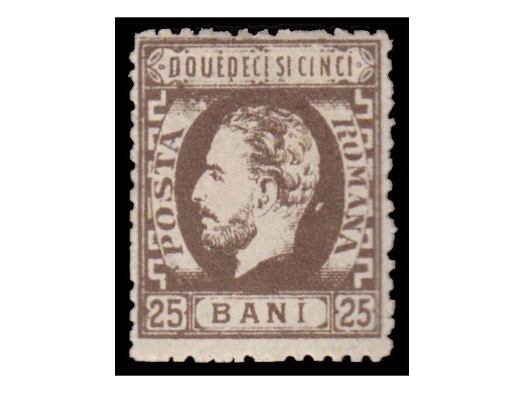 1872, 25B Karel, MiNr.34, lehká mastná *