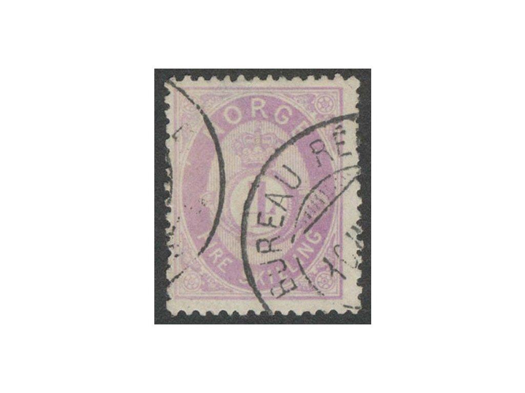 1872, 4Sk fialová, MiNr.19, razítkované