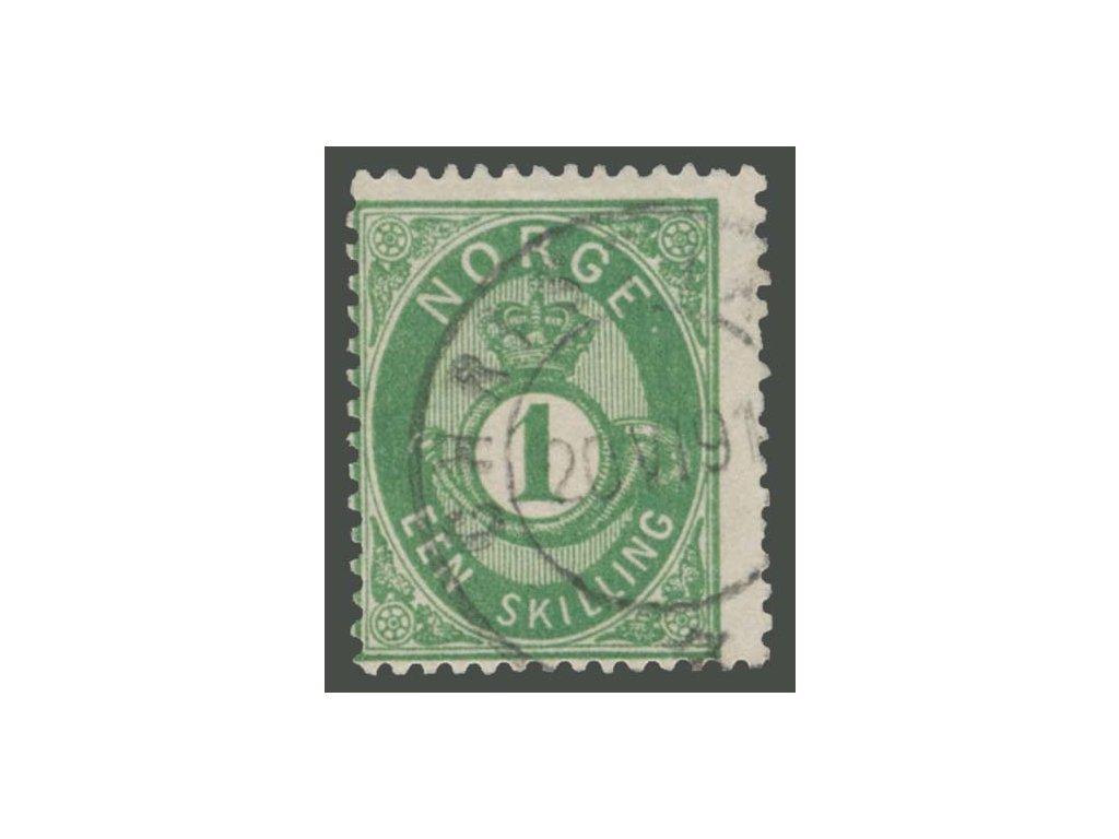 1872, 1Sk zelená, MiNr.16, razítkované