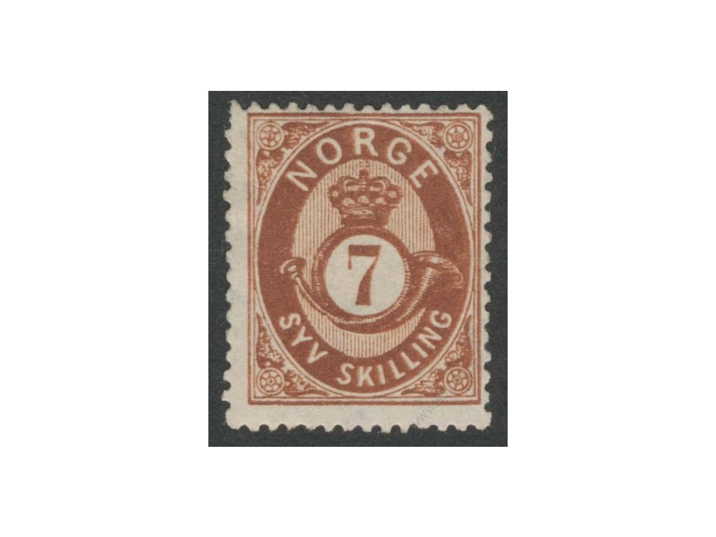 1872, 7Sk tmavě hnědá, MiNr.21, * po nálepce