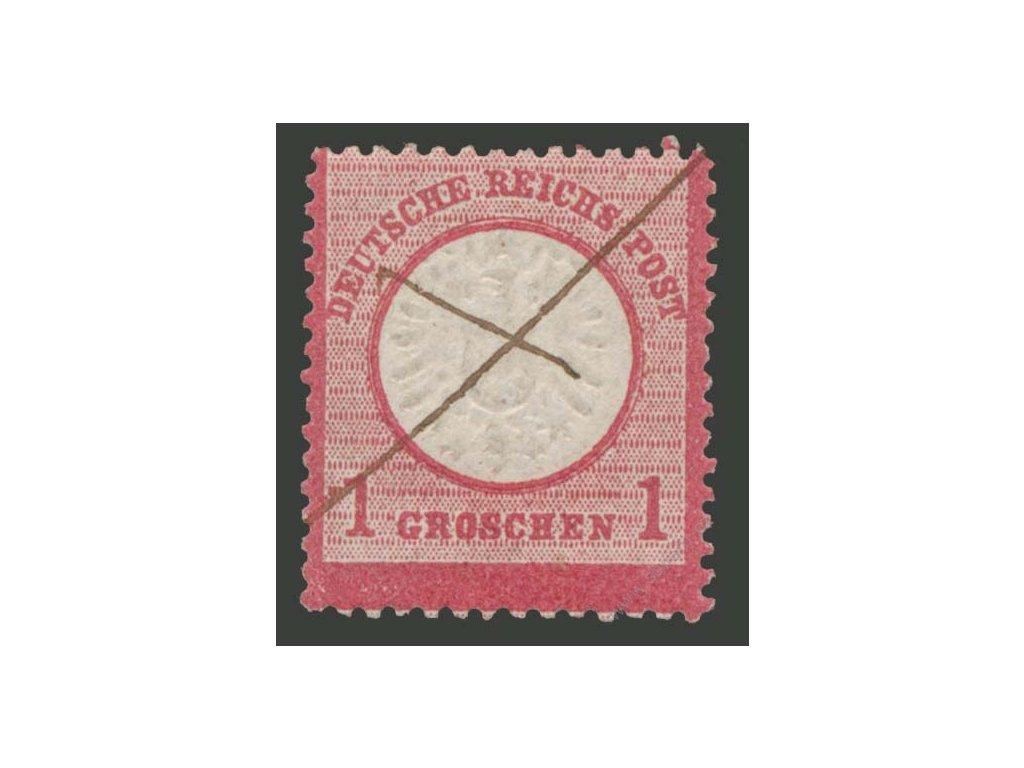 1872, 1Gr Orel, MiNr.19, škrt