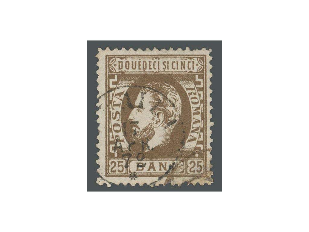 1872, 25B Karel, MiNr.34, razítkované, dv