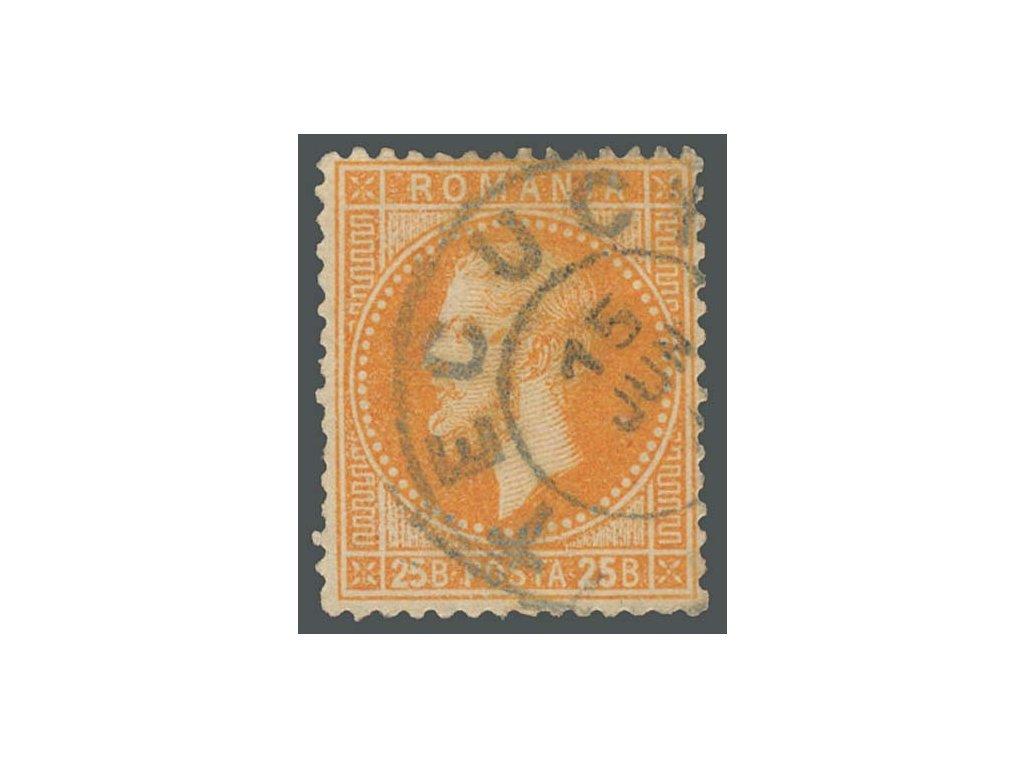 1872, 25B Karel, MiNr.41, razítkované
