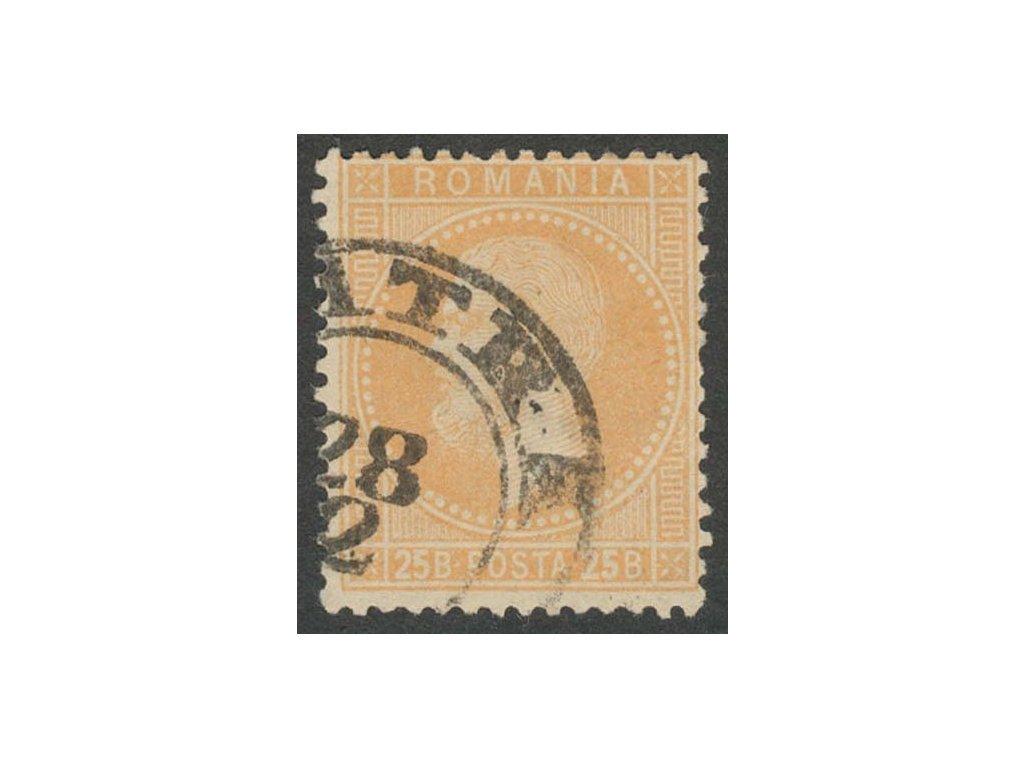 1872, 25B Karel, MiNr.41, razítkované, dv