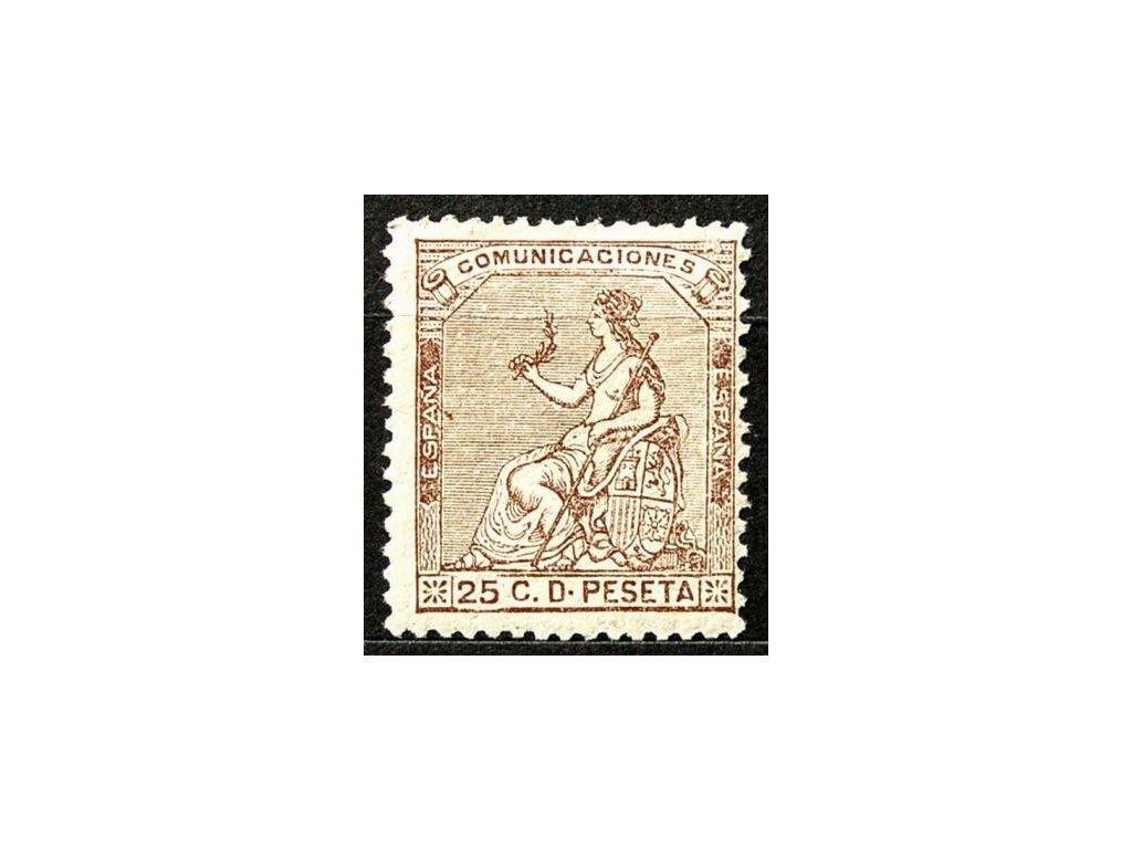 1873, 25C Hispania, dv, MiNr.129, *