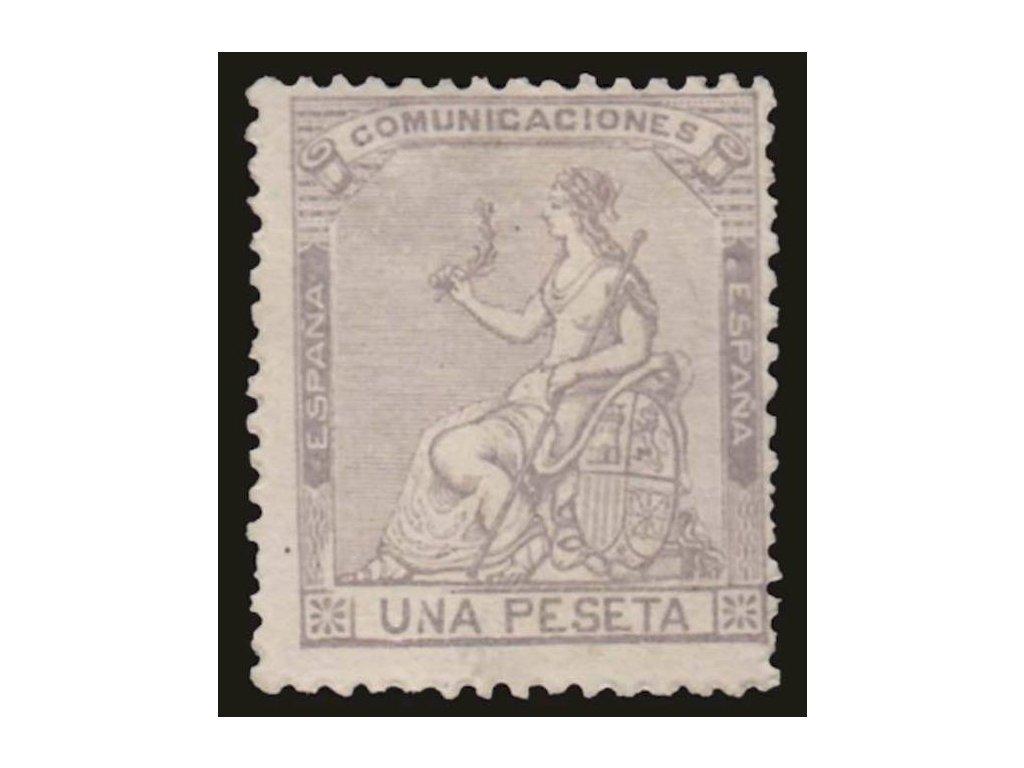 1873, 1Pta Hispania, MiNr.132, těžší *